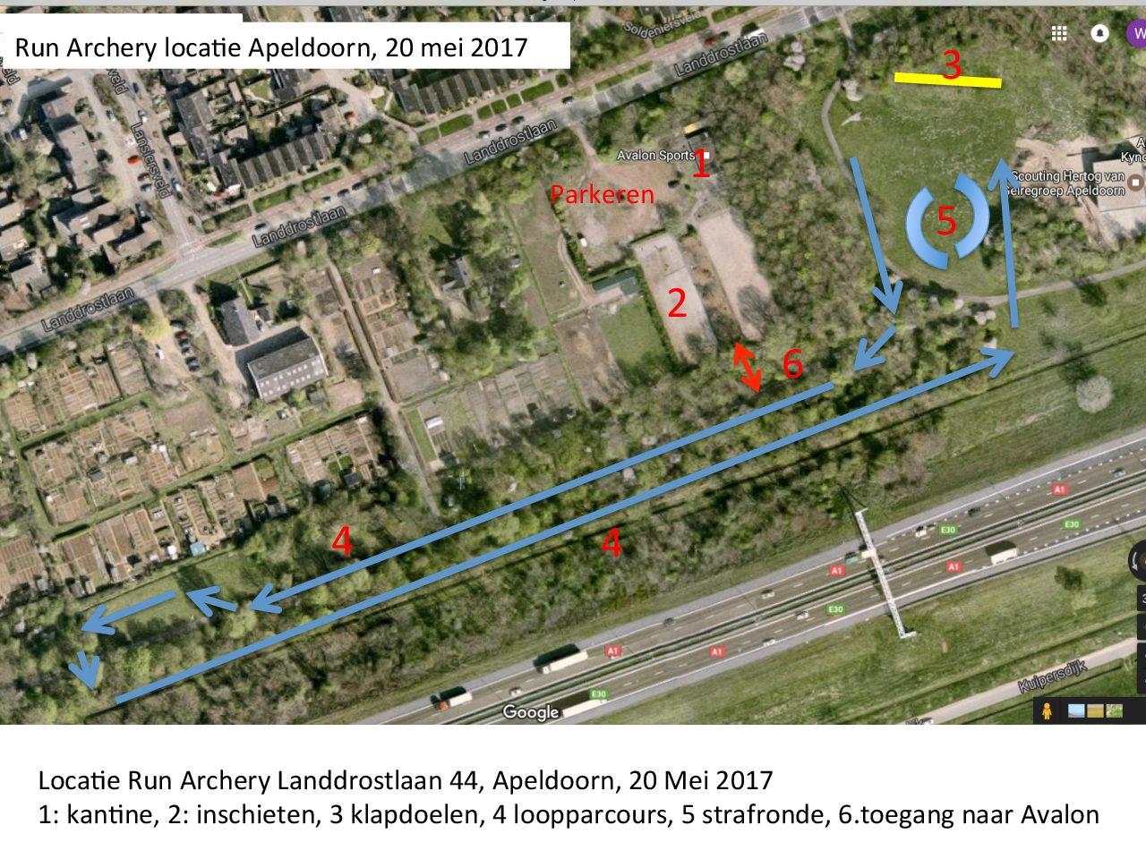Inschrijving en programma Run-Archery Apeldoorn 20 mei