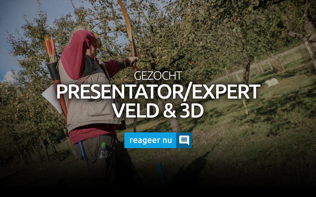 Gezocht: Presentator/Expert Veld & 3D