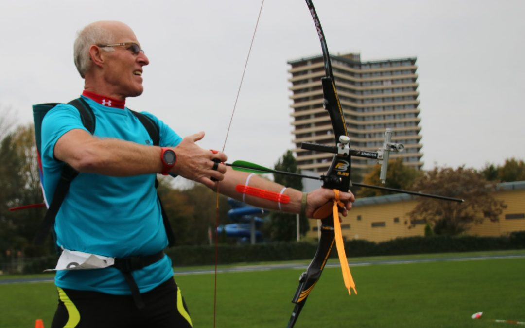 NK Run-Archery Sprint Wageningen met Mitch Dielemans