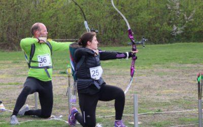 1e sprint Run-Archery in Apeldoorn 25 mei 2019