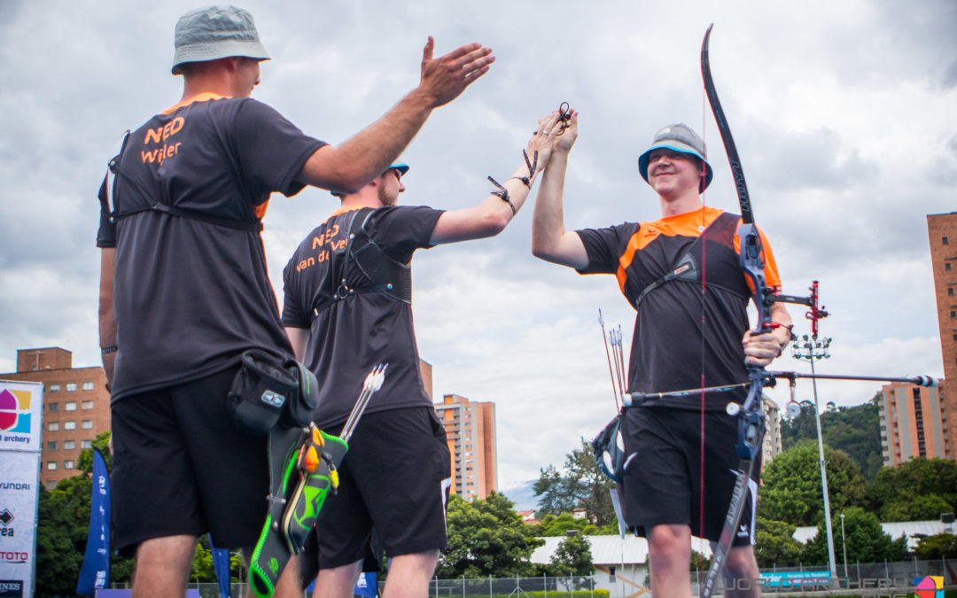 TeamNL recurve pakt Wereldbeker brons in Medellin