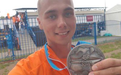 Zilver voor Steve Wijler tijdens Europese Spelen