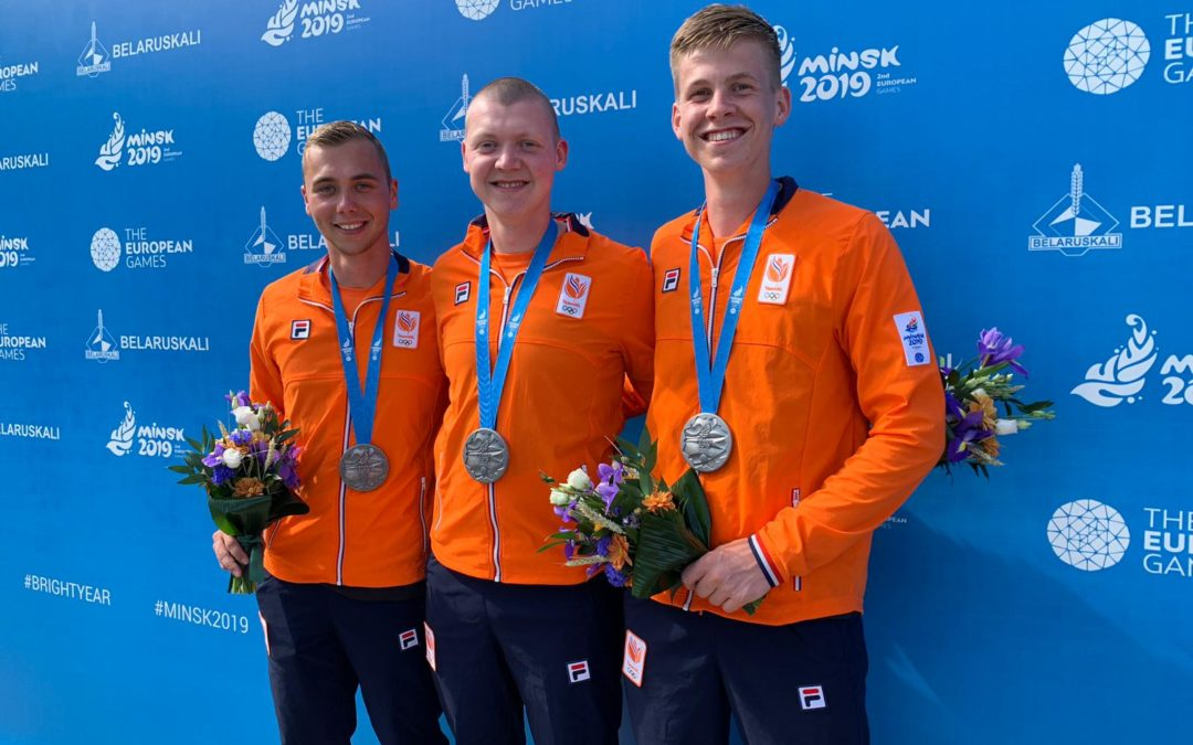 TeamNL heren recurve pakken European Games zilver in Minsk