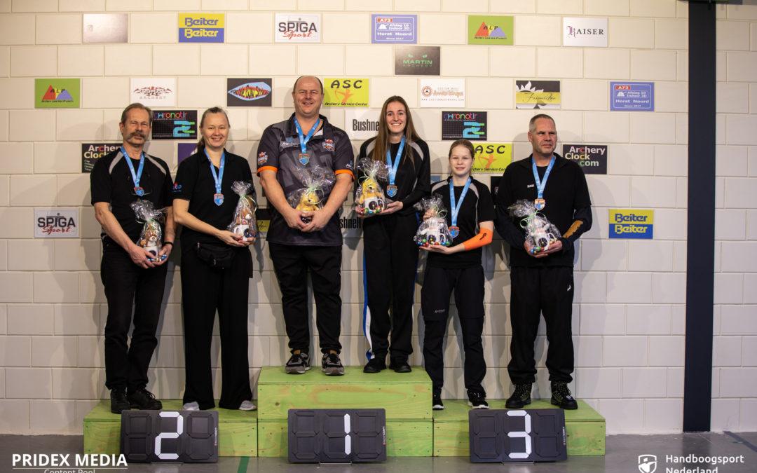 Nederlandse indoortitels Barebow verdeeld in Horst