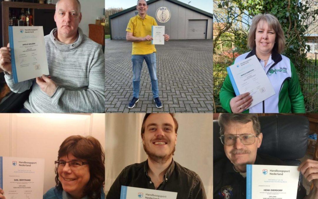 Handboogsport Nederland feliciteert nieuwe Wedstrijdleiders!