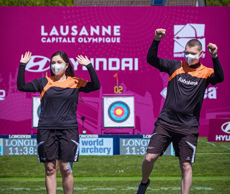 World Cup Lausanne: goud voor Gabriela Schloesser en Sjef van den Berg