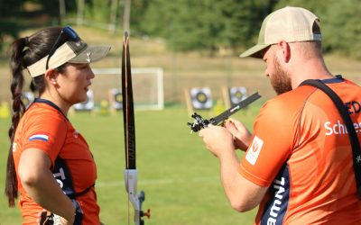 Mike Schloesser pakt brons, Gaby Schloesser grijpt naast het eremetaal